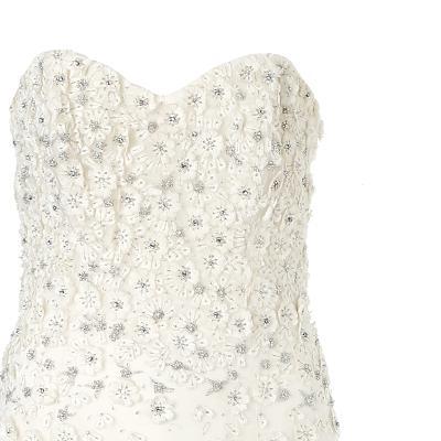 flower gradation dress white